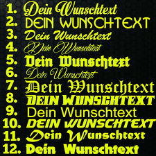 1x WUNSCHTEXT 20cm Breit Aufkleber Auto Domain Cartatto Beschriftung Schriftzug