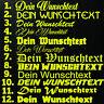 1x WUNSCHTEXT 10cm Breit Aufkleber Auto Domain Cartatto Beschriftung Schriftzug