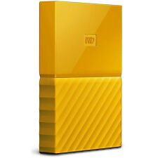 Western Digital WD 1TB My Passport Portable Hard Drive - Yellow