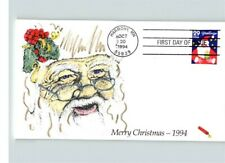 SANTA CLAUS, Hand Painted CHRISTMAS 1994 First Day of Issue