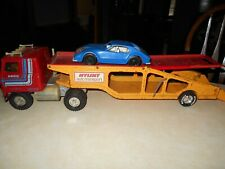 Vintage Nylint Auto Transport With Car Plastic 23 Long