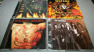 CD Sammlung - WIZZARD/WICKED ANGEL/JUDAS PRIEST/H-TERROR - 4 CD - aus Sammlung!