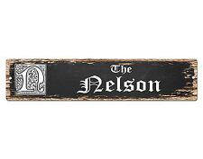 SP0477 The NELSON'S Family name Plate Sign Bar Store Cafe Home Chic Decor Gift