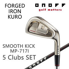 ONOFF GOLF JAPAN FORGED IRON KURO SET #6-9,46°(5clubs) Smooth Kick MP-717I 2018c