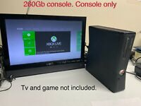 Microsoft Xbox 360 Slim 250GB Matte Black Console Model 1439 Tested