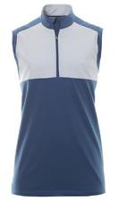 adidas Golf Stretch Wind Vest Tank Top Mens 1/4 Zip Blue UK Size XL *REF91