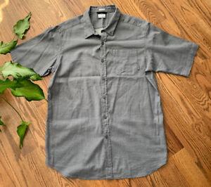 Columbia Short Sleeve Shirt Casual Outdoor Button Down Men's Size XLT Gray EUC
