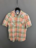 LEVI'S Short Sleeved Shirt - Size XL - Slim - Check - Great Condition - Men's