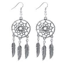 For Women Bohemian Style Earring L Hollow out Vintage Leaf Feather Drop Earrings
