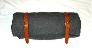 Bed Roll - Blanket Straps w/Belt Loops Camping, Hiking, Saddle - Brown or Black