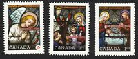 CHRISTMAS = STAINED GLASS = DIE CUT set of 3 Canada 2011 #2492i-4i MNH VF