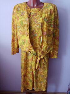 True Vintage Kleid mit Jacke und Gürtel 60er 70er original gr.38/40