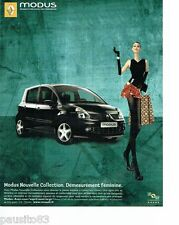 PUBLICITE ADVERTISING 116  2006  la Renault  Modus  nouvelle collection féminine