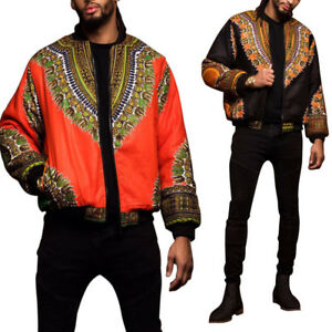 African Style Jacket Mens Casual Long Sleeve Tops Coat Outwear M~XL 2018 Fashion