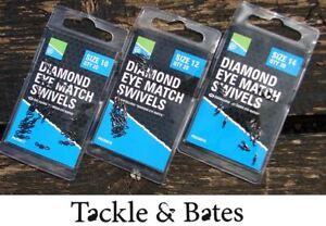 Preston Innovations Diamond Eye Match Swivels 3 Size Options Coarse Fishing