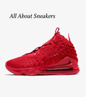 """LeBron 17 """"University Red/Bright Crimson"""" Men's Trainers Limited Stock All Sizes"""