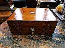 Victorian TUNBRIDGE Ware Jewellery & LAVORO SCATOLA. ORIGINALE interior. condizione di Nizza