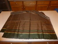 "Vintage CHRISTIAN DIOR Unisex Large Silk Scarf Wrap 28x50"" Fringe"