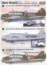 Print Scale Decals 1/72 AVRO ANSON British WWII Multi Role Aircraft