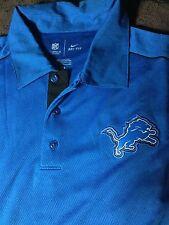 XL Nike Detroit Lions Polo On Field NFL Dri Fit Player T-Shirt Mens Size X-Large