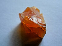 one 28mm RARE NATURAL ROUGH BRAZILIAN FIRE OPAL w/flash 3.66g;METAPHYSICAL#13R