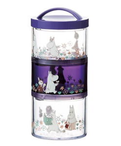 MOOMIN Flower 3 Layers Round Lunch Box Food Container