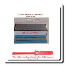 360 Pc 14 025oz Stick On Wheel Weight Balance Adhesive Scraper Remover Tool