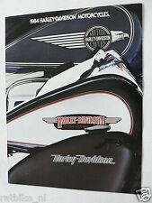 D101 POSTER BROCHURE HARLEY-DAVIDSON 1984 ALL MODELS MOTORCYCLES XLH SPORTSTER,