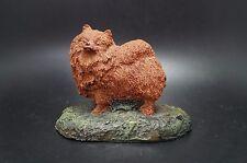 VTG Cold Cast Bronze POMERANIAN Dog AUS BEN Marsha Richardson Kennel Collection