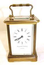 Wonderful Swiss Brass Carriage Clock : MATTHEW NORMAN LONDON SWISS MADE