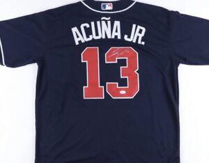 🔥RONALD ACUNA JR Signed ATLANTA BRAVES NIKE Jersey JSA AUTHENTICATED