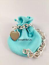 "Tiffany & Co. Sterling Silver Heart Tag Bracelet 7.5"""