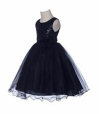 Wedding Sequin Mesh Flower Girl Dresses Graduation Pageant Birthday Party B011NF