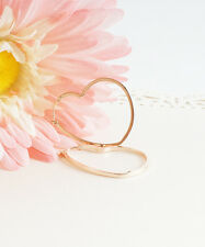 Heart Hoop Earrings, Rose Gold Heart Shaped Hoop Earrings, Rose Gold Hoop Earrin