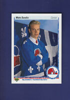 Mats Sundin RC HOF 1990-91 Upper Deck Hockey #365 (MINT) Quebec Nordiques