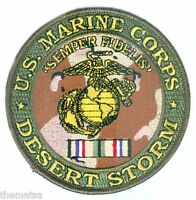 "MARINE CORPS EGA DESERT STORM MEDAL  4"" EMBROIDERED MILITARY  PATCH"