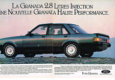 PUBLICITE ADVERTISING   1982   FORD  GRANADA  V6 ( 2 pages)