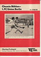 OL 82/83 1. FC Union Berlin - BSG Chemie Böhlen