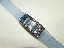 GLITZY LIGHT SAPHIRE BLUE AUSTRIAN CRYSTAL WATCH FORMAL PROM MOTHERS DAY GIFT