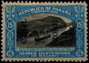 Canal Zone - 1917 - 50 Cents Bright Blue & Black Overprinted Panama Issue # 50