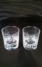 BAILEYS ETCHED GLASS TUMBLERS x 2 (TWO) - FREE UK POSTAGE