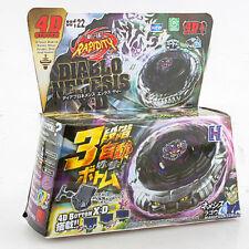AUTENTICO Takara Tomy Beyblade metallo Fusion Lotta BB122 Diablo NEMESI 4D