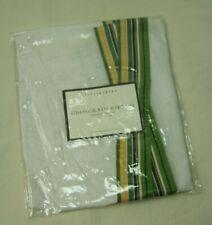 "Pottery Barn Grosgrain Ribbon Drape Shade Rideau Store 26x44"" Linen Green White"