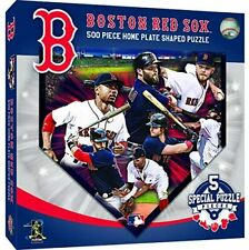 Boston Red Sox 500 Piece Home Plate Shaped Puzzle with 5 Special Pieces NEW!