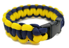 "Paracord Bracelet 550 Two-Tone Mid. Blue/Yellow Survival Tactical 3/8"" Buckle"