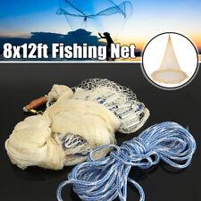 8ft Wurfnetz Verzinkt Fischernetz Nylon Angelnetz Kastingnetz Fisch Köderfisch