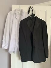 """Men's dinner suit jacket 42"""" trousers 36"""" waist with bow tie and shirt 16.5"""