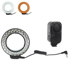 48 LEDs Macro Ring Flash Light with 2 Diffusers for Canon Nikon Pentax NM 4WI9