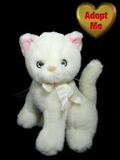 Kellytoy Vintage White Kitty Cat Kitten Stuffed Plush Animal 9in