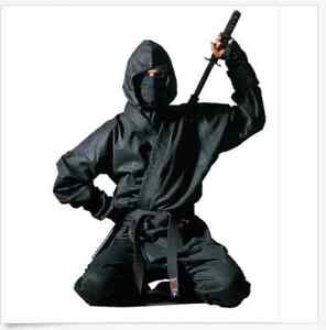 Full Complete Ninja Assassin Ninjutsu Martial Arts Suit Black Uniform Training